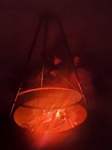 Ohniště v teepee